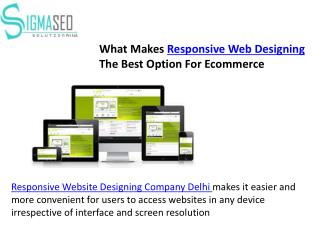 What Makes Responsive Web Designing The Best Option For Ecommerce