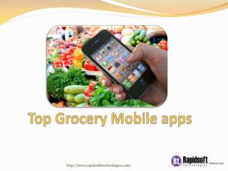 Top Grocery Mobile apps