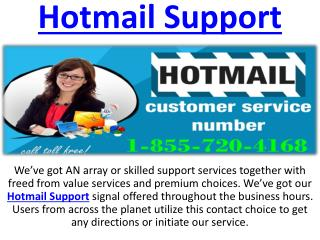 Hotmail Problems Customer Service Phone Number 1-855-720-4168