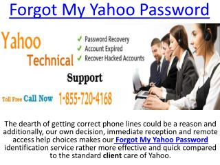 Call 1-855-720-4168 Forgot My Yahoo Password Help Center