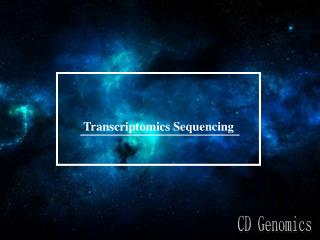 Transcriptomics sequencing
