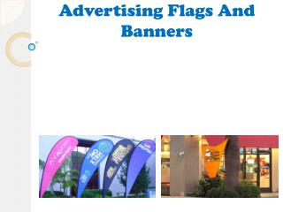 Various Indoor And Outdoor Advertising Flags And Banners