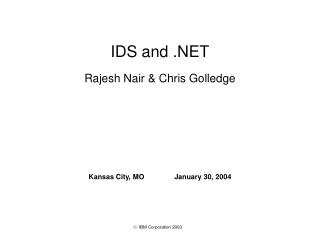 Rajesh Nair  Chris Golledge