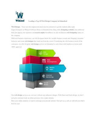 Web Development Islamabad   Web Designing and SEO Islamabad   Wikisol