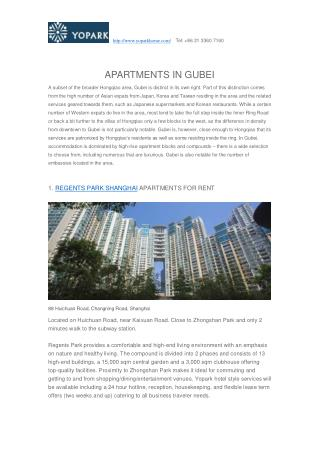 APARTMENTS IN GUBEI