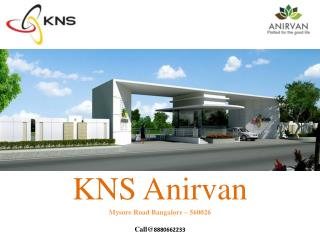 KNS Anirva BDA Approved sites for sale in bangalore