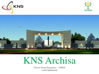 Bangalore Plots for Sale in KNS Archisa