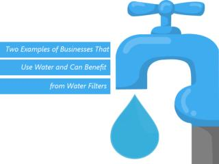 Two Examples of Businesses That Use Water and Can Benefit From Water Filters
