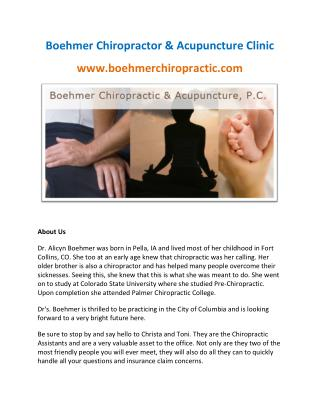 Boehmer Chiropractic & Acupuncture, P.C.