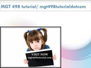 MGT 498 tutorial / mgt498tutorialdotcom