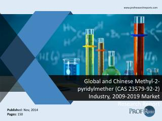 Global and Chinese Methyl-2-pyridylmether (CAS 23579-92-2)  Market Size, Analysis, Share, Growth, Trends  2009-2019
