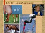 Ch. 41  Animal Nutrition