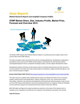 STMP Market – Opportunity and Forecast 2015