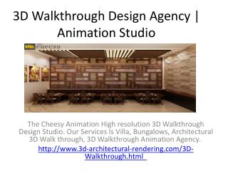 3D Walkthrough Design Agency | Animation Studio