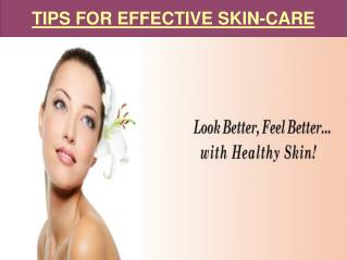 Tips for Effective Skin-care