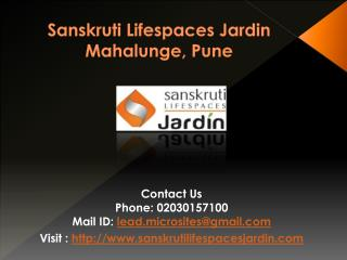 Sanskruti Lifespaces Jardin- Pune - Call @ 02030157100 For Booking, Review, Location, Price, Public Opinion