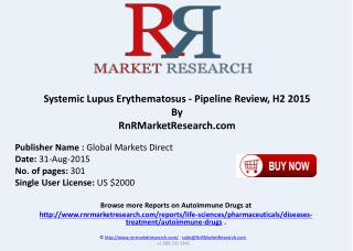 Systemic Lupus Erythematosus Pipeline Review H2 2015