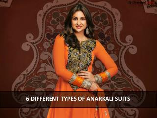 6 Different Types of Anarkali Suits