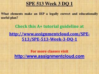 SPE 513 Week 3 DQ 1