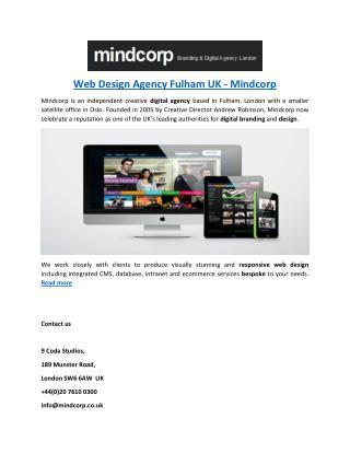Web Design Agency Fulham UK - Mindcorp