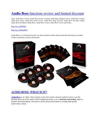 Audio Boss review and sneak peek demo