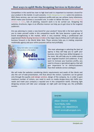 media design services in chennai