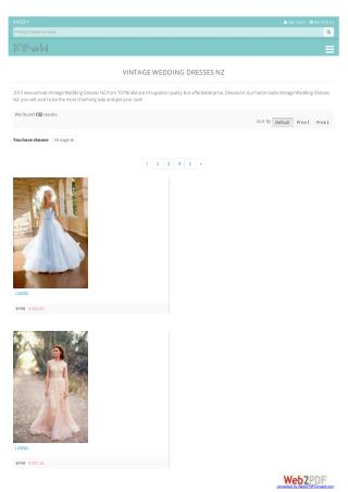 Vintage Wedding Dresses NZ