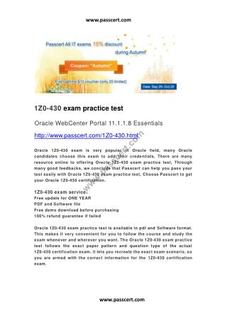 Oracle 1Z0-430 exam questions