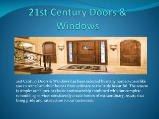 21st Century Doors & Windows