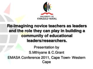 Re-imagining novice teachers as leaders and the role they can play in building a community of educational leaders