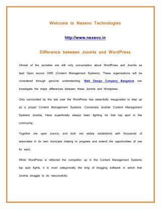 Difference between Joomla and WordPress