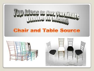 Top Ideas to Buy Furniture Online in Miami