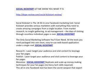 Social Kickstart Review & Bonuses—Should I Get it ?