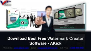 Download Free Watermark Creator Software - AKick