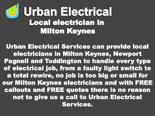 Electrical Repairs and Installations at urbanelectricalservices.co.uk