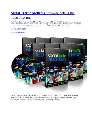 Social Traffic Alchemy review & bonuses - cool weapon