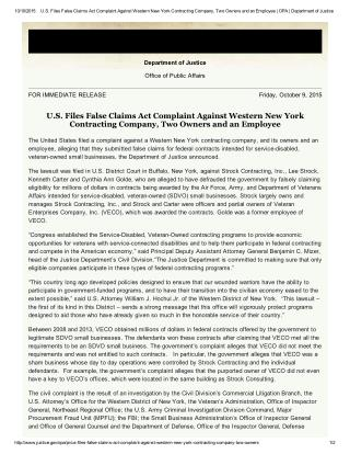 Blog 127 US Files False Claims Act Complaint Against Western