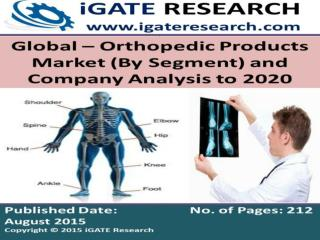 Orthopedic Products Market - Global Analysis