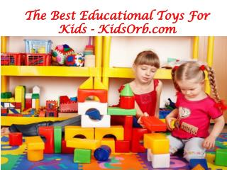 Educational Toys For Kids - KidsOrb.com