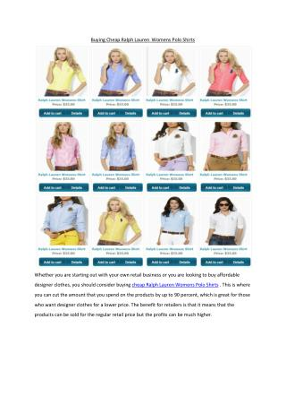 Buying Cheap Ralph Lauren Womens Polo Shirts