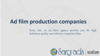 Ad Film Production Company in India