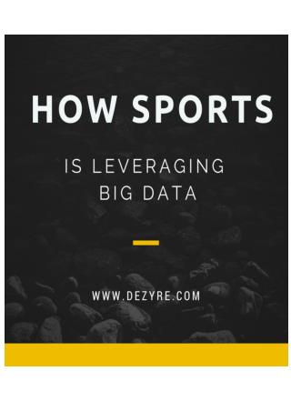 How Sports is Leveraging Big Data