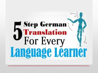 5-Step German Translation for Every Language Learner