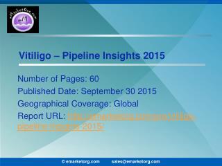 Vitiligo Pipeline Comprehensive assay of competitor pipeline molecules and technology report