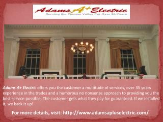 Electrical service in Franklin county