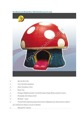 Red Mushroom Model Bou1-064 Kids Bouncers for sale