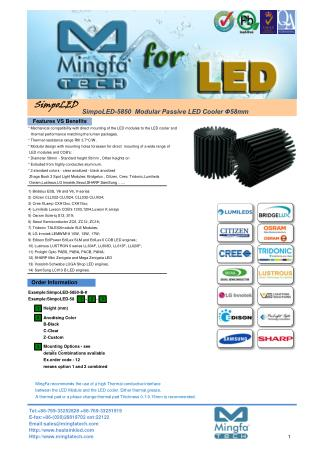 China Simpo LED Coolers Manufacturer