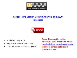 Fibre Industry Statistics and Opportunities Report 2015