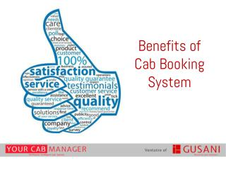 Benefits of Cab or Taxi Booking Software