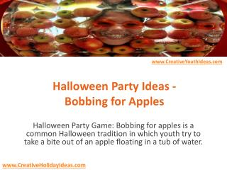 Halloween Party Ideas - Bobbing for Apples